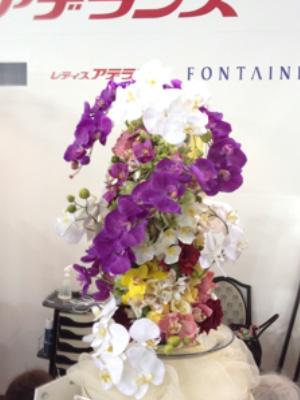 レディースアデランス協賛のブース花装飾 2014年2月