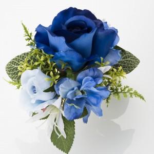 《濃青ブルーローズ》濃い青をメインにした、上質な趣を醸し出してます。